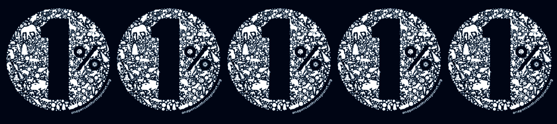 Banner 1% for the Planet Art Logo